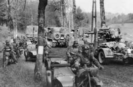 2.WK., Frankreichfeldzug 1940: Deutsche Militaerkolonnen